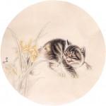 Кошка и бабочка - старинный китайский рисунок