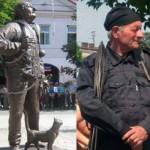 Памятник трубочисту с кошкой в Закарпатье