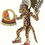 Воин-ягуар, древнее ацтекское изображение