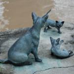Памятник сингапурской кошке в Сингапуре (Kucinta)