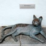 Памятник кошке музея Перанакан в Сингапуре