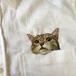 Хироко Кубота и ее вышитые котики