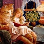 Картины с котиками иллюстратора Рут Сандерсон