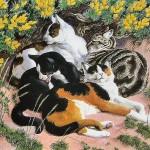 Кошки на картинах Чарльза Танниклиффа