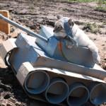 Мастер-класс: как сделать танк для кота из картонной коробки